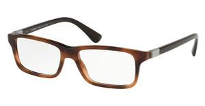 Prada PR 06SV U6J1O1 STRIPED BROWN