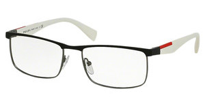 Prada Sport PS 54FV DG11O1 BLACK RUBBER/GUNMETAL RUBBER