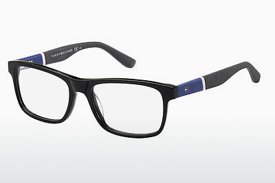 चश्मा Tommy Hilfiger TH 1282 FMV - काला, नीला, सफ़ेद, सलेटी