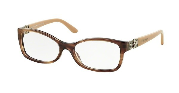 Bvlgari BV4069B 5240 STRIPED BROWN