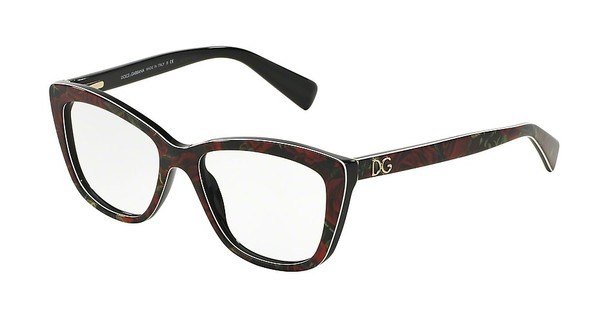 Dolce & Gabbana DG3190 2938 PRINTING ROSES ON BLACK