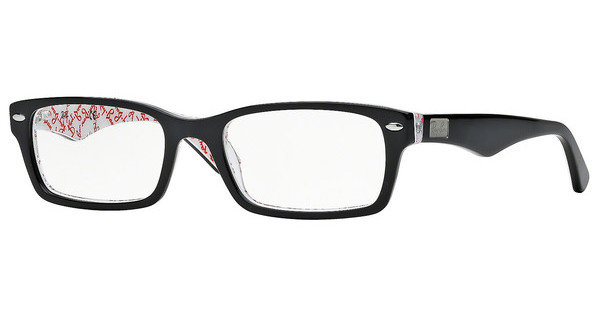 Ray-Ban RX5206 5014 TOP BLACK ON TEXTURE WHITE