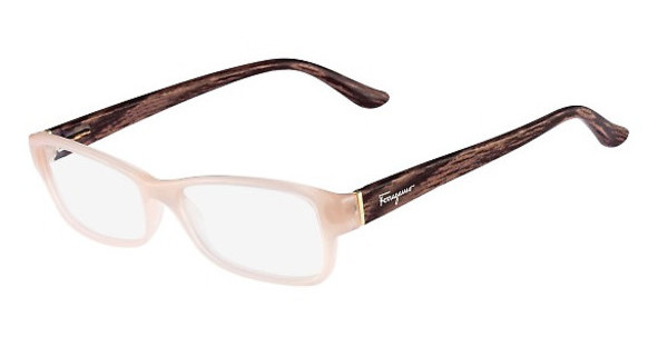 Salvatore Ferragamo SF2689 667 OPALINE ROSE/ANTIQUE WOOD
