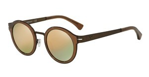 Emporio Armani EA2029 31034Z GREY MIRROR ROSE GOLDBROWN RUBBER