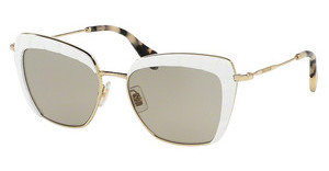 Miu Miu MU 52QS 7S35J2 LIGHT BROWNWHITE