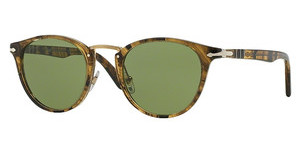 Persol PO3108S 10214E GREENSTRIPED LIGHT BROWN