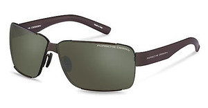 Porsche Design P8580 C light olive, silver mirrored + greybrown
