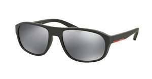 Prada Sport PS 01RS TFZ5L0 LIGHT GREY MIRROR BLACKGREY RUBBER
