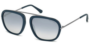 Tom Ford FT0453 88C grau verspiegelttürkis matt