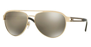 Versace VE2165 12525A LIGHT BROWN MIRROR DARK GOLDPALE GOLD