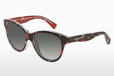 Ophthalmic Glasses Dolce & Gabbana MATT SILK (DG4176 29868G) - Flowers, Black