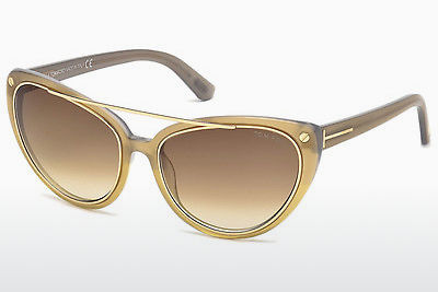 Ophthalmic Glasses Tom Ford Edita (FT0384 34F) - Bronze, Bright, Shiny