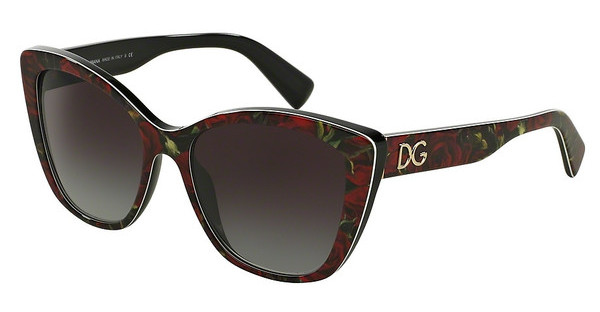 Dolce & Gabbana DG4216 29388G GREY GRADIENTPRINTING ROSES ON BLACK