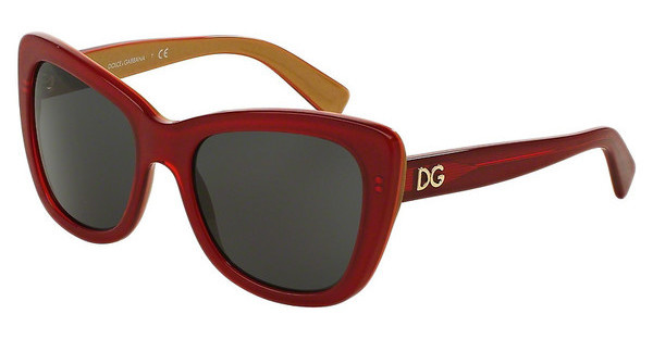 Dolce & Gabbana DG4260 296887 GREYTOP RED ON GOLD