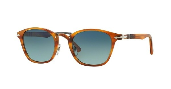 Persol PO3110S 960/S3 LIGHT BLUE GRAD BLUE POLARSTRIPED BROWN