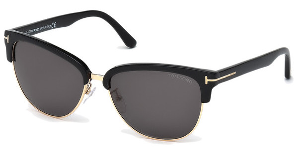 Tom Ford FT0368 01A grauschwarz glanz