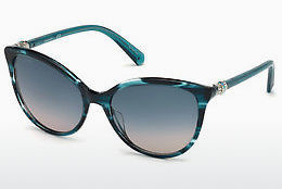 Ophthalmic Glasses Swarovski SK0147 87W - Blue, Turquoise, Shiny