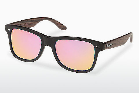 धूप का चश्मा Wood Fellas Lehel (10757 rosewood/black/rose)