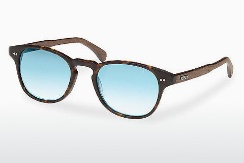 Ophthalmic Glasses Wood Fellas Haidhausen (10758 walnut/havana/blue)